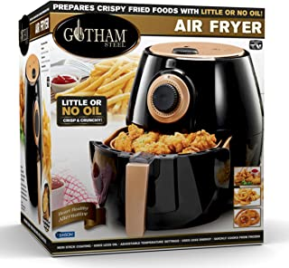 Gotham Steel Air Fryer XL 3.8 Liter with Rapid Air Technology for Oil Free Healthy Cooking Adjustable Temperature Control ...