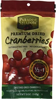 Paradise Meadow Premium Dried Cranberries, 5 Ounce (Pack of 12)