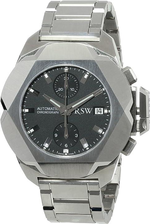 Orologio da polso da uomo, analogico, automatico, in acciaio inox  rsw nazca 4400.ms.s0.1.00