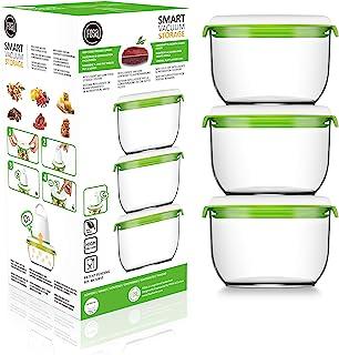 Fosa 30850 850 ml Pack of 3) Transparent Plastic 27 x 12 x 12 cm