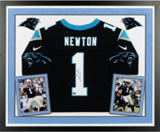 Cam Newton Carolina Panthers Deluxe Framed Autographed Nike Elite Black Jersey - Fanatics Authentic Certified