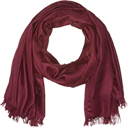 COACH - Tea Rose Jacquard Oblong Scarf