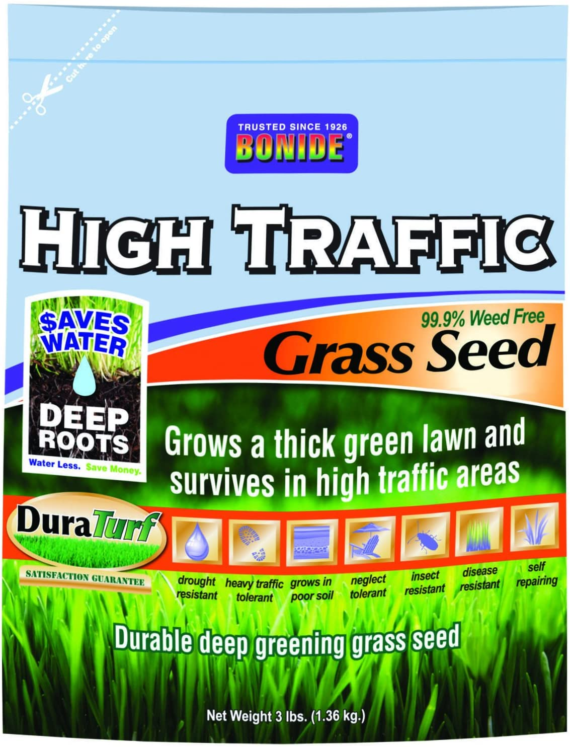 Bonide 60281 High Max Max 77% OFF 88% OFF Traffic Grass Seed 3-Pound
