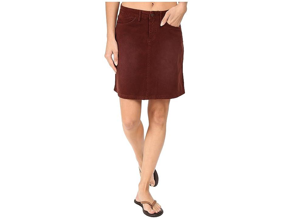 Prana Trista Skirt (Dark Umber) Women