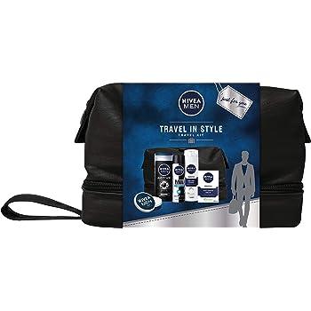 NIVEA MEN Pack Men de 3 productos, set de baño para hidratar la piel, set de regalo para hombre con protección antitranspirante y revitalizante: Amazon.es: Belleza