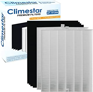 Climestar Premium True HEPA Pack of 2 HEPA Plus 4 Carbon Filter Replacement for Coway AP-1512HH Mighty Air Purifier Model 3304899