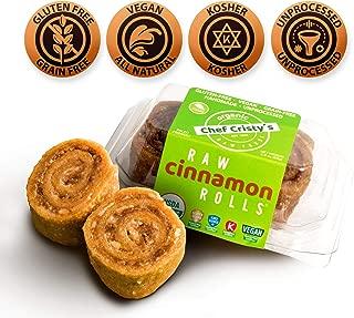 Paleo Snacks - Paleo Dessert - Gluten Free Bites - Healthy Sweet Snacks - Gluten Free Dessert - Vegan Bites - Natural Snacks - Vegan Rolls - Plant Based Dessert - CHEF CRISTY's Cinnamon Rolls 6 Rolls