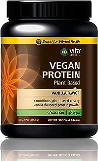 Vegan Protein Shake Powder Non GMO, Soy-Free, Sugar-Free, Vegan Complete Protein Powder- Pea,Hemp, Chia, Spirulina & Kelp. Natural Vanilla Flavor. Most Advanced & Powerful Protein Powder