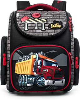 Delune 3D Cartoon Kids Boys Toys Lightweight Backpack | Water Resistant Isolated Back to School Bag