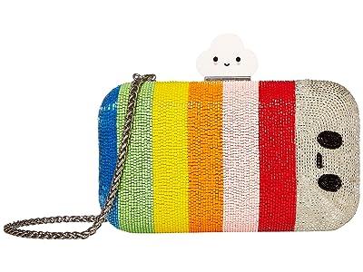 Alice + Olivia Shirley Embellished Clutch (Multi) Handbags