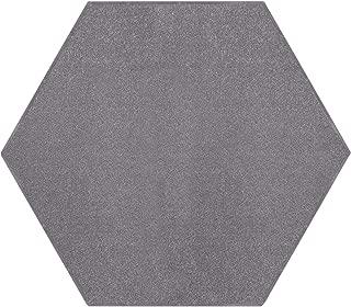 Ambiant Pet Friendly Solid Color Area Rug Grey -2' Hexagon