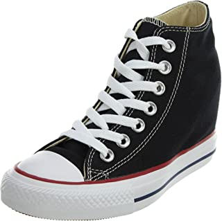 Women's Chuck Taylor Lux Mid Black Basketball Shoe (6.5)