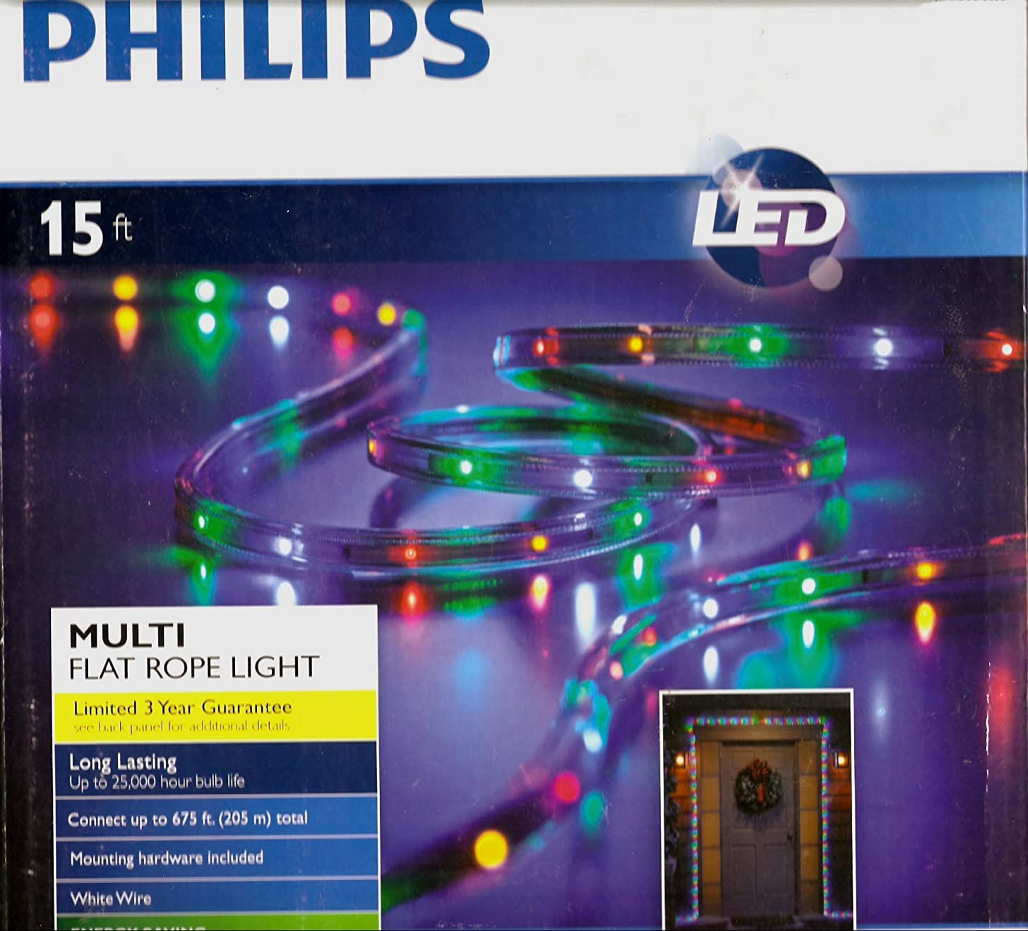 Philips 15 Ft. Multi-Color LED Flat Rope Light