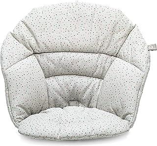 STOKKE® Clikk™ Cushion - Cojín de bebé para la trona Clikk™ │ Almohadilla de algodón repelente al agua │ Diseño reversible│ color: Grey Sprinkles