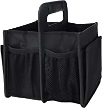 Portable Collapsible All-Purpose Carry Caddy Storage Tote Organizer for Tools, School Supplies| Cleaning Accessories| Picnic Caddy (Black)