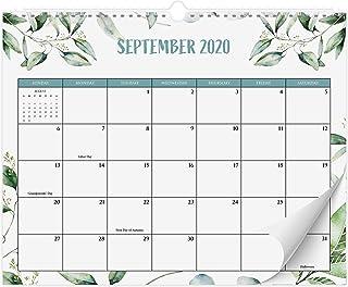 "Beautiful 2020-2021 Greenery Wall Calendar 14.5"" x 11.5"" - 18 Month Wall/Desk Calendar for Easy Planning Until August 2021"