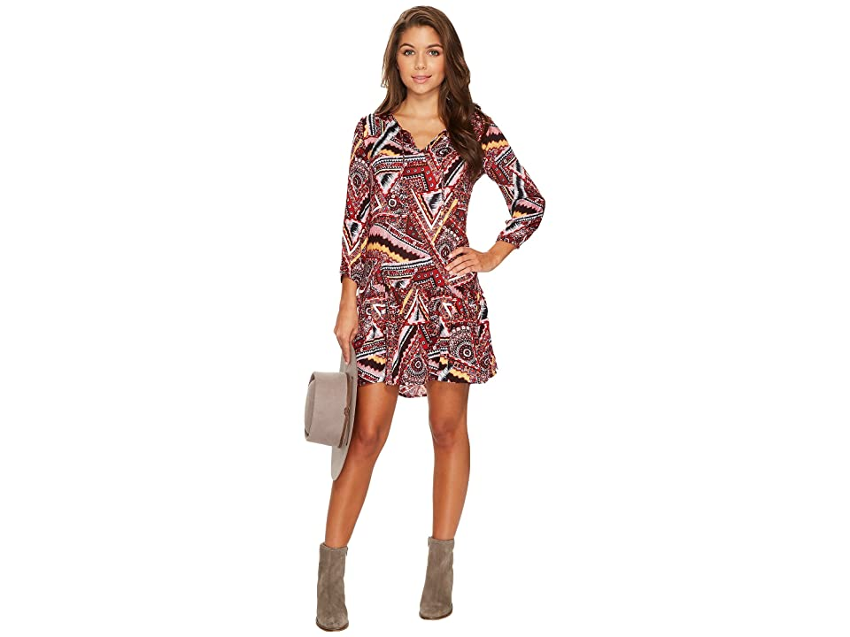 Jack by BB Dakota Kelly Printed Dress (Terracotta Orange) Women
