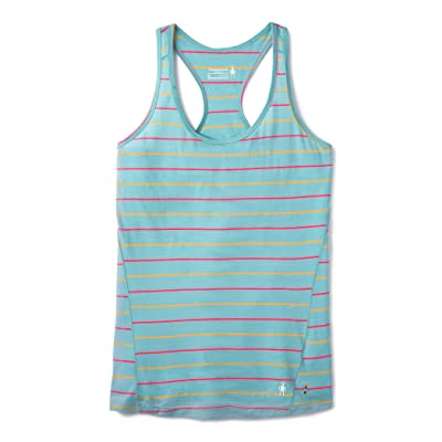 Smartwool Merino 150 Baselayer Tank Top (Wave Blue Stripe) Women