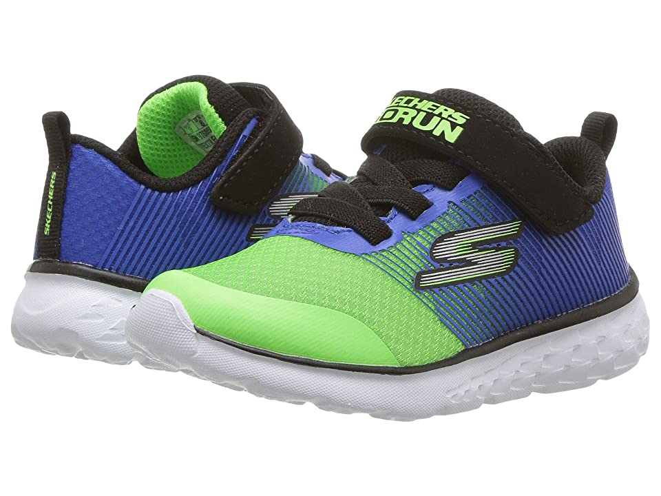 SKECHERS KIDS Go Run 400 Kroto (Toddler) (Blue/Lime) Boy