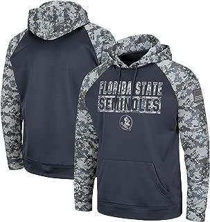 Colosseum NCAA Men's Florida State Seminoles OHT Military Appreciation Digi Camo Raglan Pullover Hoodie
