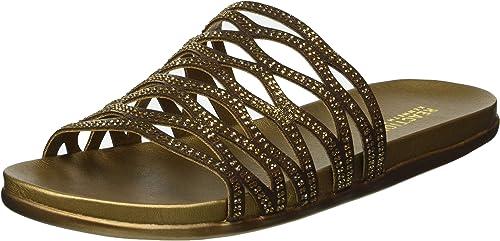 Kenneth Cole REACTION Wohommes Slim Flat Slide Sandal, Sandal, Sandal, Bronze, 8 M US be5
