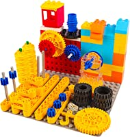 burgkidz STEM Learning Building Blocks Toys, Toddler Activities Games Gear Construction Kits, Preschool Educational Toys...