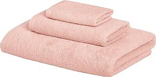 AmazonBasics 3 Piece Cotton Quick-Dry Bath Towel Set - Petal Pink