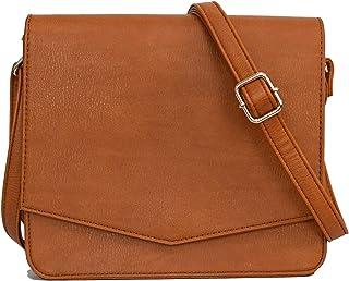Crossbody Bags for Women – Vegan Leather Satchel Bag, Cross Body Adjustable Strap Purse - Casual, Lightweight, Minimalist