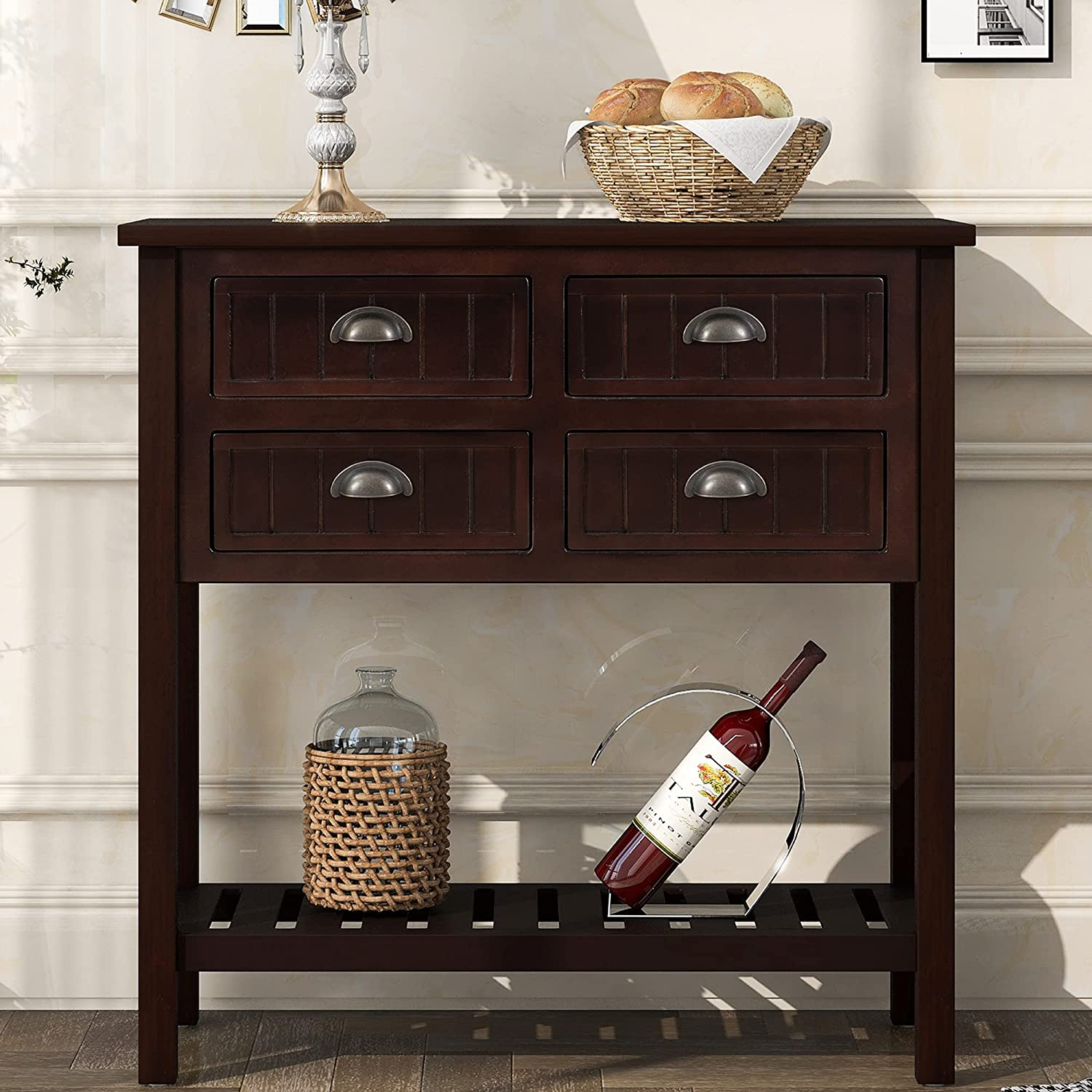 Tampa Mall Narrow Console Table Rustic All stores are sold Sofa Slim Entryway with