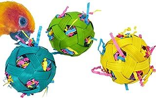 Bonka Bird Toys Colored Natural Stuffed Crazy Vine Bamboo Balls Bird Toy Parrot Foraging Foot Craft Part Talon Cockatiel Parakeet
