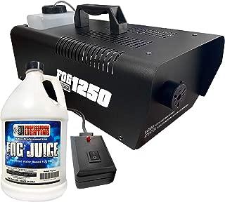 1250 Watt Fog Machine - W/Remote and One Gallon Fog Juice - Impressive 8,000 Cubic ft. per minute - Adkins Professional Lighting FOG1250