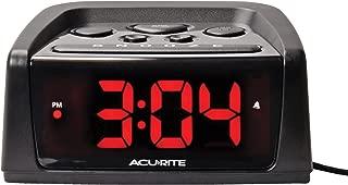 AcuRite 13019W2 5.4-inch Intelli-Time Alarm Clock,
