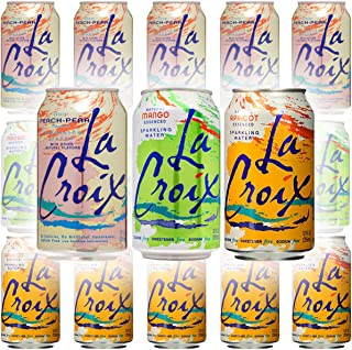 La Croix Mango, Peach-Pear, Apricot - Variety Pack, 12oz Cans (15-Pack Variety, Total of 180 Oz)