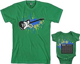 Threadrock Electric Guitar & Amp Infant Bodysuit & Men's T-Shirt Matching Set