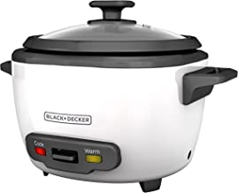 BLACK+DECKER 16-Cup Cooked/8-Cup Uncooked Rice Cooker and Food Steamer, White, RC516