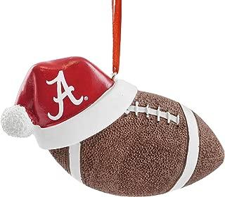 University of Alabama Santa Hat Football Hanging Christmas Ornament
