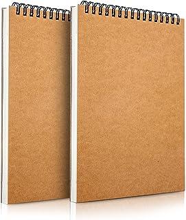 Mamowla Carnet de Dessin A5 Sketchbook, Reliure Spirale Papier Dessin Cahier de Dessin avec Carton dur Durable, 160GSM Car...
