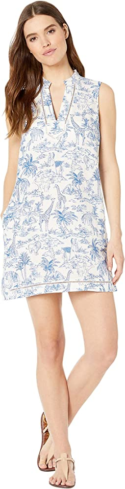Printed Beach Dress Cover-Up
