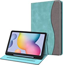 Fintie Case for Samsung Galaxy Tab S6 Lite 10.4'' 2020 Model SM-P610 (Wi-Fi) SM-P615 (LTE) with S Pen Holder, Multi-Angle Viewing Soft TPU Back Cover with Pocket Auto Wake/Sleep, Turquoise