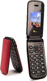 TTsims - Flip TT140 Mobile Phone - Camera - Bluetooth - Cheapest Flip Folding Clamshell Phone (Red/Pink)