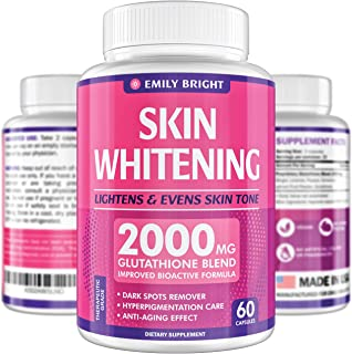 Glutathione Whitening Pills – 2000mg Glutathione – Better than Skin..