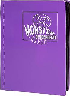Monster Binder - 4 Pocket Matte Purple Album - Holds 160 Yugioh, Magic, and Pokemon Cards