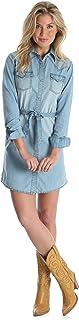 فستان جينز طويل الأكمام للسيدات من Wrangler