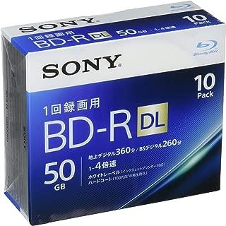 Sony 4X BD-R DL 10 pack 50GB White Printable 10BNR2VJPS4