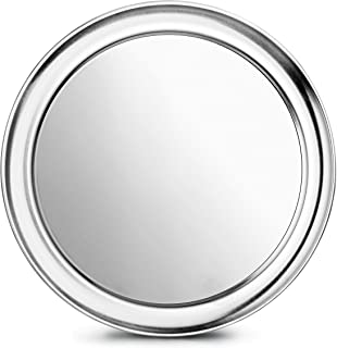 New Star Foodservice 50875 Pizza Pan/Tray, Wide Rim, Aluminum, 10 Inch, Pack of 6
