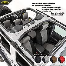 Smittybilt 472122 Charcoal/Black Neoprene Seat Covers for 2018+ Jeep Wrangler JL 4-Door