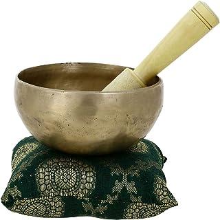 la main en m?tal de Bell bouddhiste tib?tain Bol chantant Instrument de musique pour la m?ditation avec Stick et coussin???Qualit sup?rieure 12,7?cm 10782 Fait