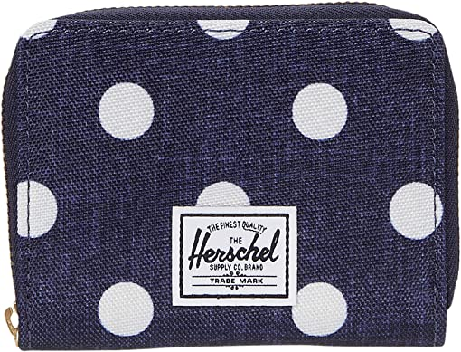 Polka Dot Crosshatch Peacoat Small
