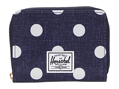 Herschel Supply Co. Tyler RFID (Polka Dot Crosshatch Peacoat Small) Wallet Handbags