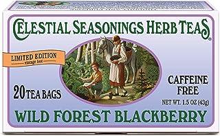 Celestial Seasonings Herbal Tea, Wild Forest Blackberry, 20 Count (Pack of 6)